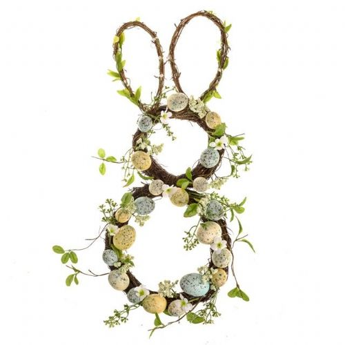 Delilah Spotted Egg Easter Bunny Wreath